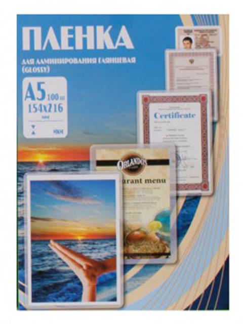 Пленка для ламинирования Office Kit A5 154x216мм 60мкм 100шт глянцевая PLP10120