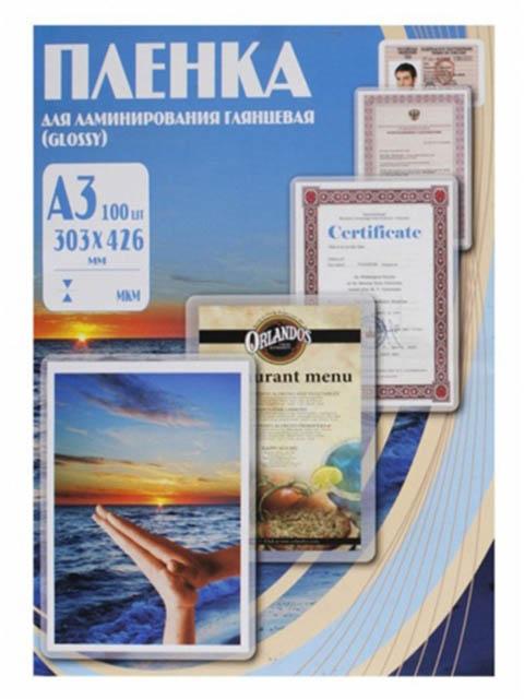 Пленка для ламинирования Office Kit A3 303x426мм 60мкм 100шт глянцевая PLP10025