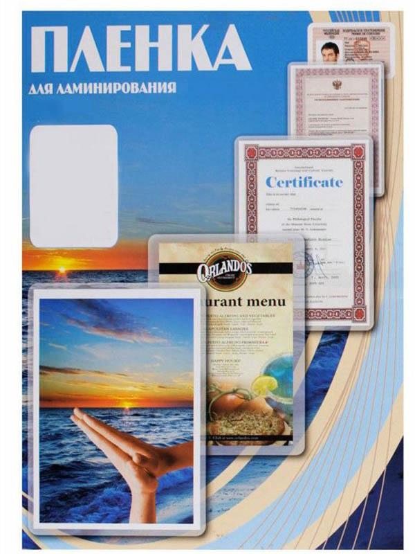 Пленка для ламинирования Office Kit 65x95мм 100мкм 100шт глянцевая PLP10605