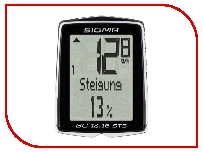 Велокомпьютер Sigma Sport BC 14.16 STS CAD 01418 датчик sigma скорости беспроводной sts арт 00439