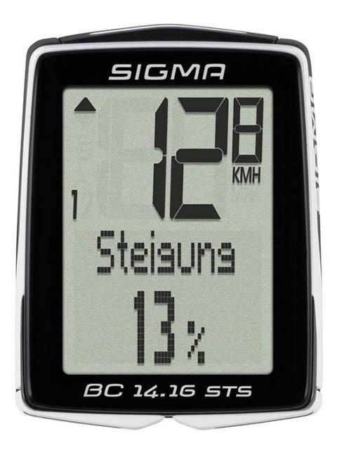 Велокомпьютер Sigma Sport BC 14.16 STS CAD SIG_01418 велокомпьютер sigma bc 16 16 sts cad беспроводной 16 функций датчик каденса 01618