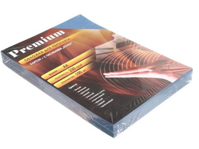 Обложки для переплета Office Kit A4 100шт кожа Blue CBA400230