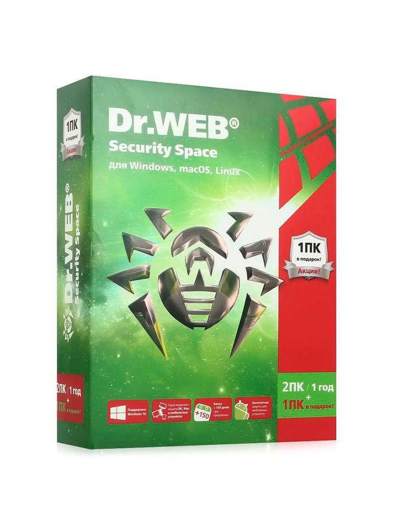 Программное обеспечение Dr.Web Security Space 3ПК 12мес. AHW-B-12M-3-A3 программное обеспечение