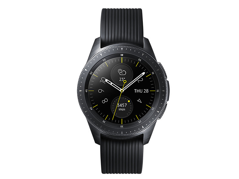 Умные часы Samsung Galaxy Watch 42mm Deep Black + Strap Sport N Black-Grey SM-R810NZKASER Выгодный набор серт. 200Р!!!