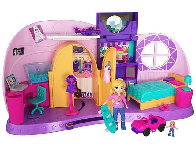 Кукла Mattel Polly Pocket Комната Полли FRY98 mattel polly pocket ftp67 маленькие куклы в ассортименте