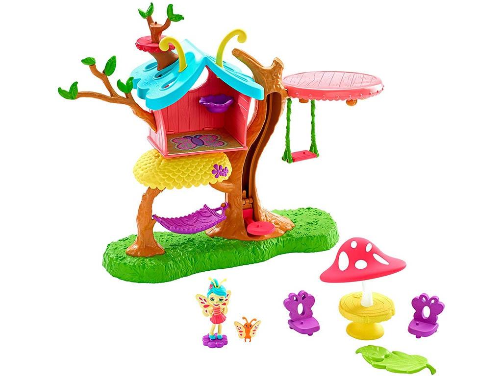Кукольный домик Mattel Enchantimals Клубный дом с Бакси Бабочкой GBX08