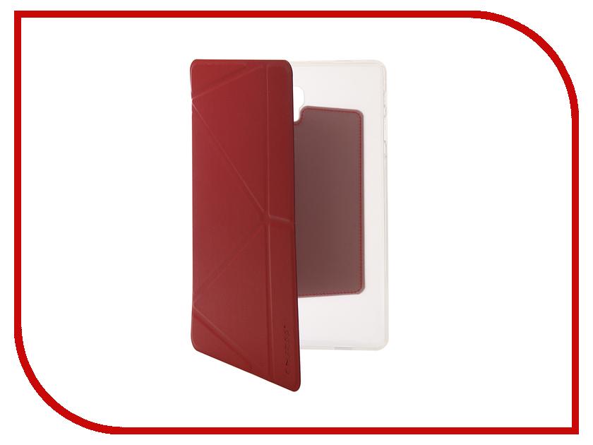 Аксессуар Чехол для Samsung Tab A2 10.1 SM-T595 Onjess Smart Red 908037 аксессуар чехол palmexx for samsung galaxy tab e 9 6 sm t561n smartslim иск кожа white