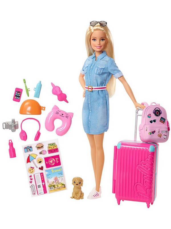 Кукла Barbie Путешествие, FWV25 mattel питомец barbie