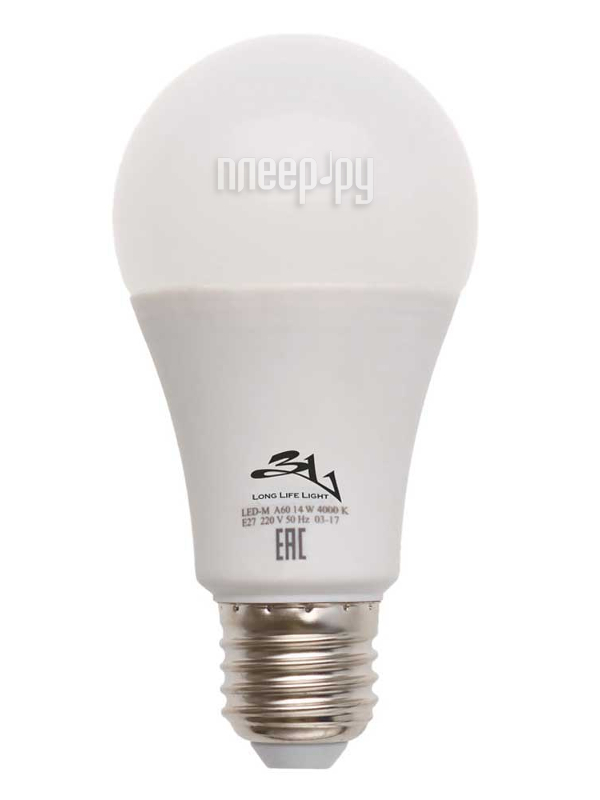 купить Лампочка 3L E27 A60 12Вт 4000K по цене 107 рублей