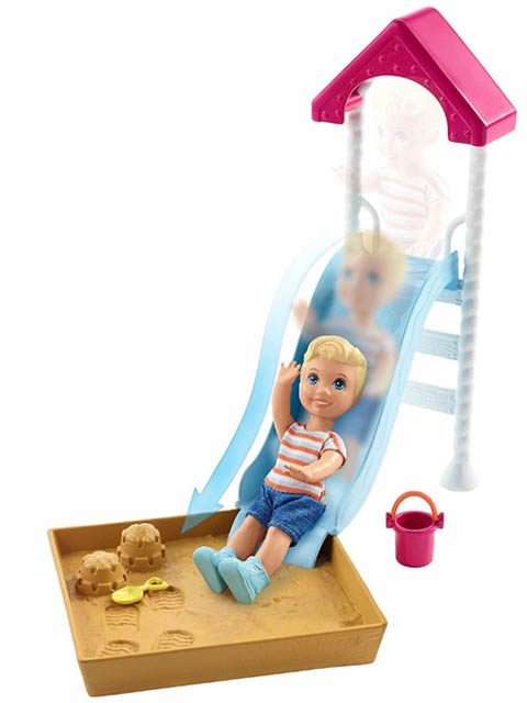 Коляска Mattel Barbie Игра с малышом FXG94