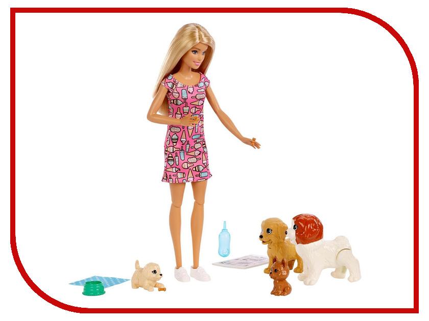 цена Кукла Mattel Barbie FXH08 Барби и щенки