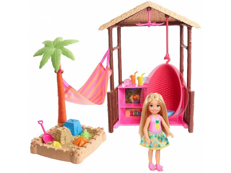 Кукла Barbie Челси с хижиной, 15 см, FWV24