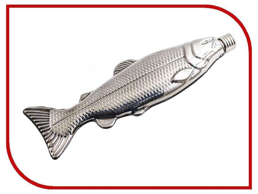 цена Фляга Эврика Рыба 100ml Silver 98728