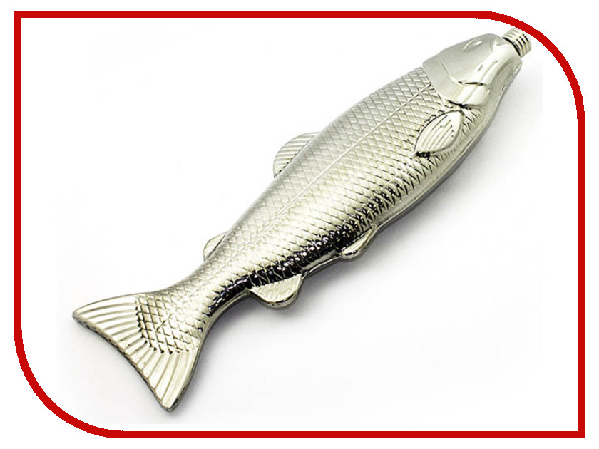 Фляга Эврика Рыба 540ml Silver 99187 биологические relea 540ml вакуумный лайнер для расточной ванны с портативной изоляцией