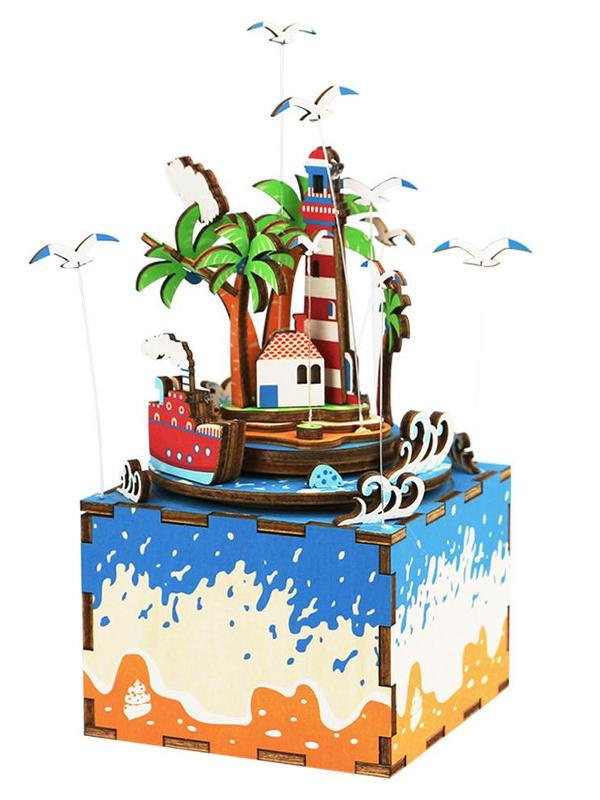 Конструктор DIY House Музыкальная шкатулка Остров AM407 румбокс интерьерный конструктор diy mini house музыкальная комната