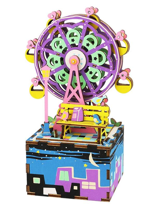 Конструктор DIY House Музыкальная шкатулка Ferris Wheel AM402 стоимость