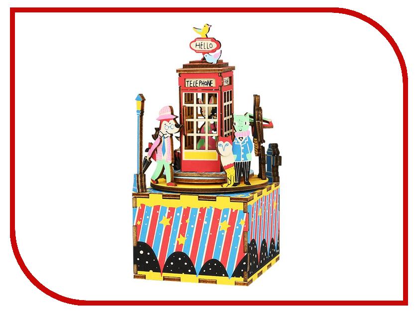 Конструктор DIY House Музыкальная шкатулка Phone Booth AM401 24th diy wooden dollhouse 3d model kit miniatures doll house large villa