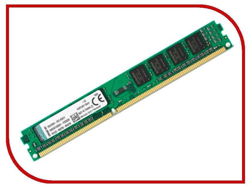 Модуль памяти Kingston VLP DDR4 DIMM 2400MHz PC4-19200 CL17 - 8Gb KVR24N17S8L/8 цена 2017