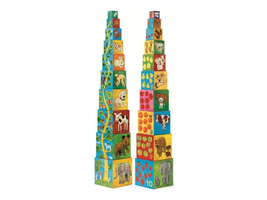 Кубики Djeco Мои друзья 10 эл. 08506 цена и фото