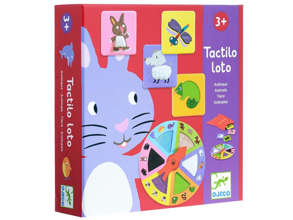 Настольная игра Djeco Тактильное лото, Животные 08129 настольная игра djeco тактильное лото животные 08129