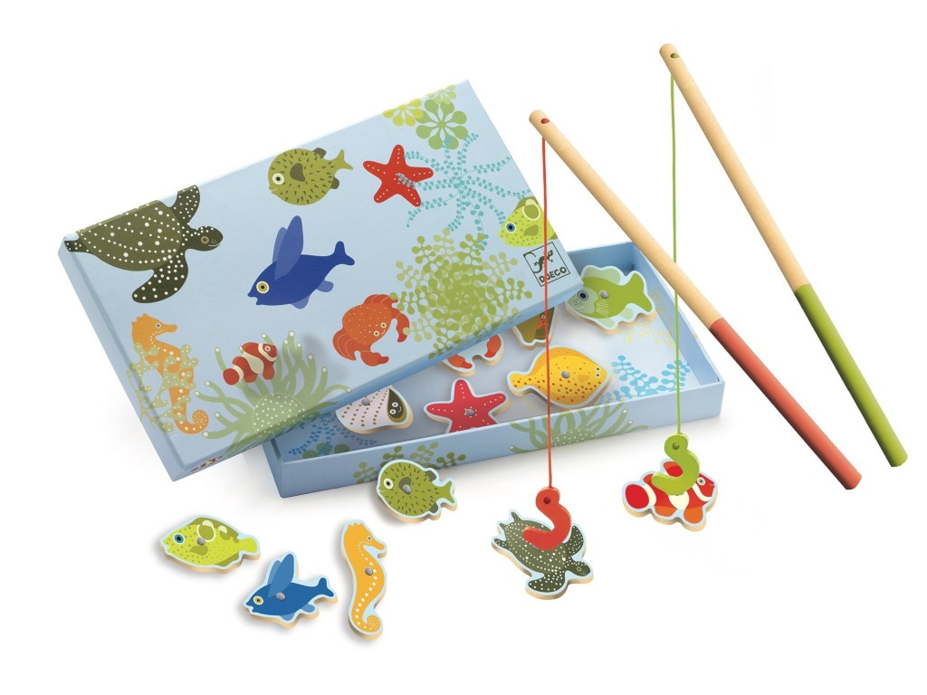 Настольная игра Djeco Тропическая рыбалка 01652 цена в Москве и Питере