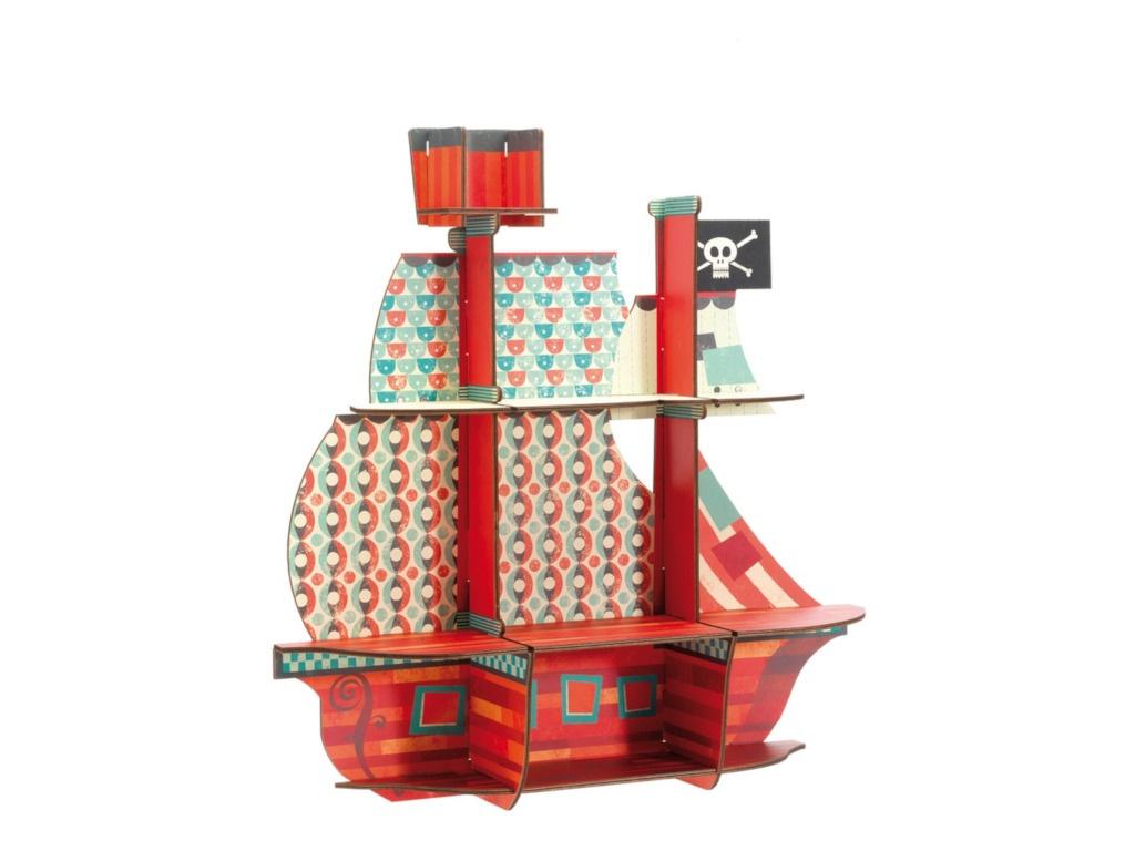 Сборная модель Djeco Пиратский корабль DD03203