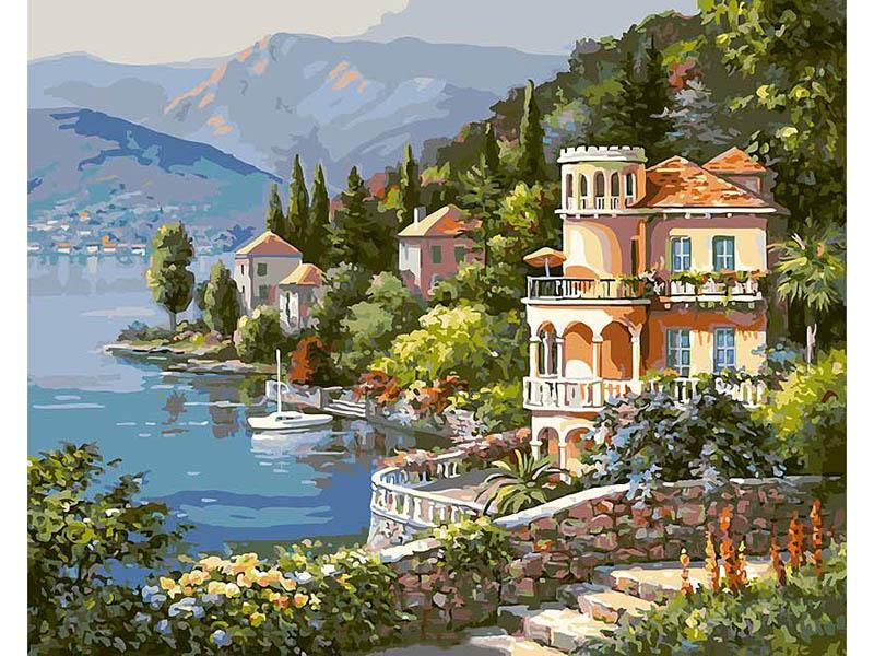 Картина по номерам Белоснежка Вилла на берегу озера 361-CG
