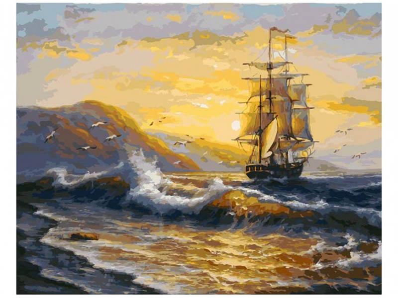Картина по номерам Белоснежка Рассвет 161-AB