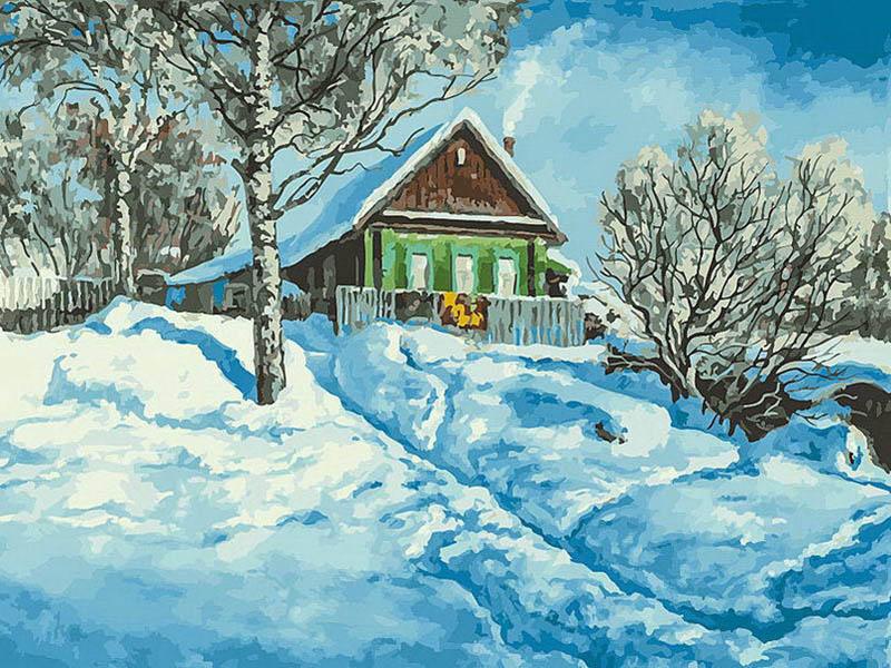 Картина по номерам Белоснежка Домик на горе 279-AS картина по номерам белоснежка птичка на заборе 313 as