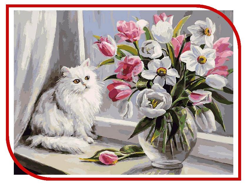 Фото - Раскраска по номерам Белоснежка Весна на окошке 128-AS белоснежка улочка к морю 300 as