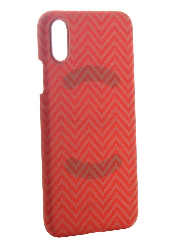 Аксессуар Чехол Pitaka для APPLE iPhone XS Case Red-Orange KI8007XS аксессуар чехол для apple iphone x pitaka aramid case black yellow twill ki8006x