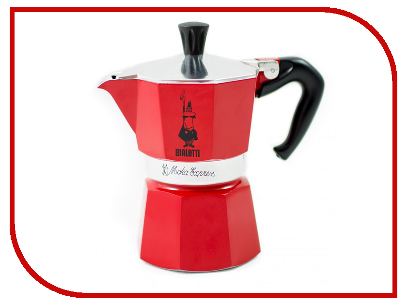 Кофеварка Bialetti Moka Express Rossa 6 порций 4943