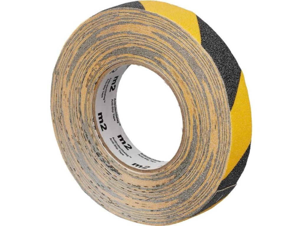 Лента противоскользящая Мельхозе 25mm х 18.3m Yellow-Black 285808 / M1WR025183