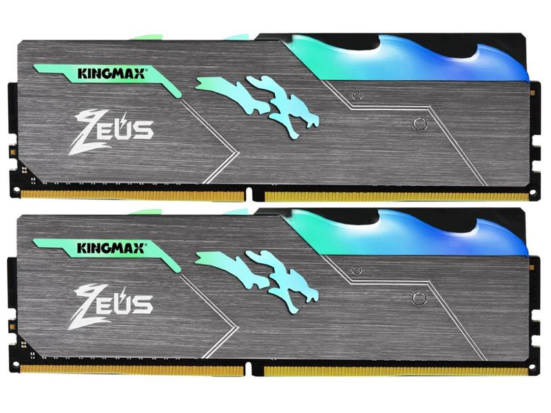 Модуль памяти Kingmax Zeus Dragon RGB DDR4 DIMM 3466MHz PC4-27700 CL16 - 16Gb KIT (2x8Gb) KM-LD4-3466-16GRD