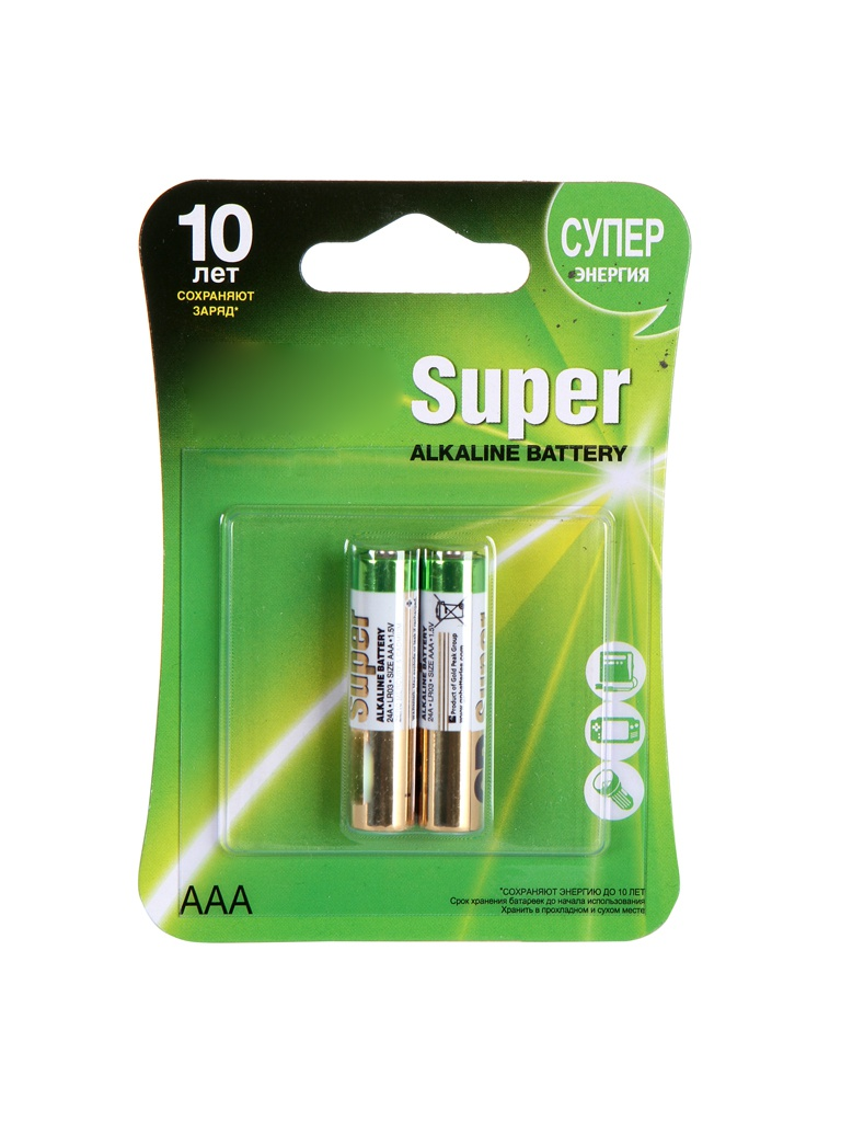 Батарейка AAA - GP Super Alkaline 24A (2 штуки) 24A-2CR2 цена 2017