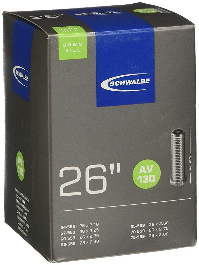 Велокамера Schwalbe AV13D TR4 Downhill 54/75-559,26х2.1525-3.0 10425740 велокамера schwalbe 40 54 559 мм 26x1 50 2 10 av14a xxlight 10424740