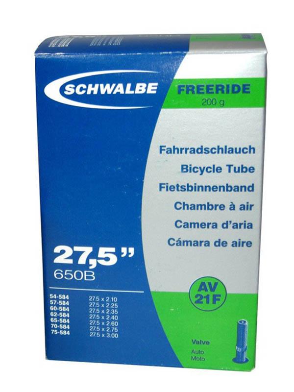 Велокамера Schwalbe AV21F TR4 Freeride 54/75-584,27.5-2.125-3.0 10400030 цена