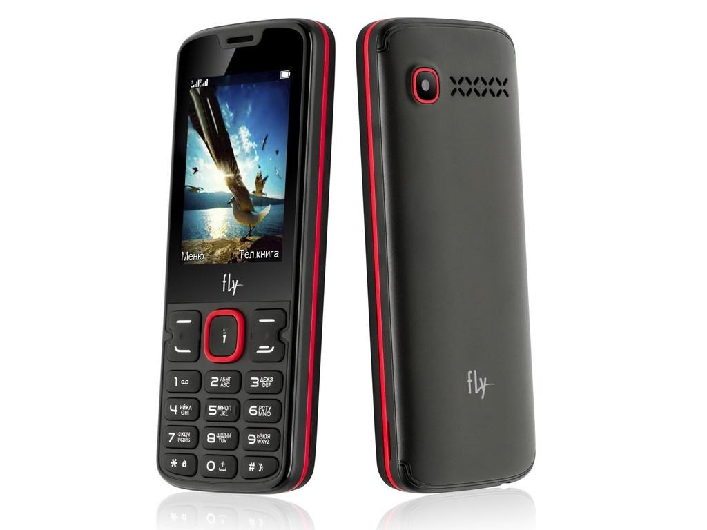 Сотовый телефон Fly FF250 Black-Red цена