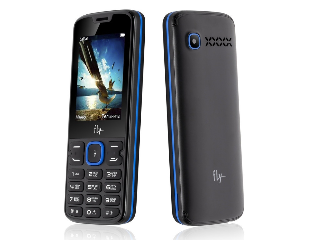Сотовый телефон Fly FF250 Black-Blue сотовый телефон vertex impress tor black orange