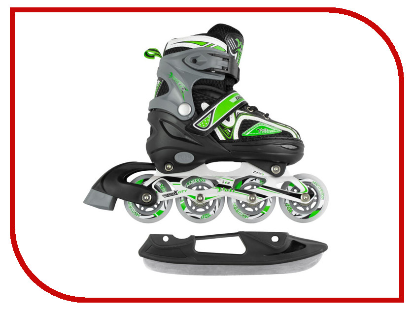 Коньки Maxcity Volt Ice р.31-34 Green MC-IS000110
