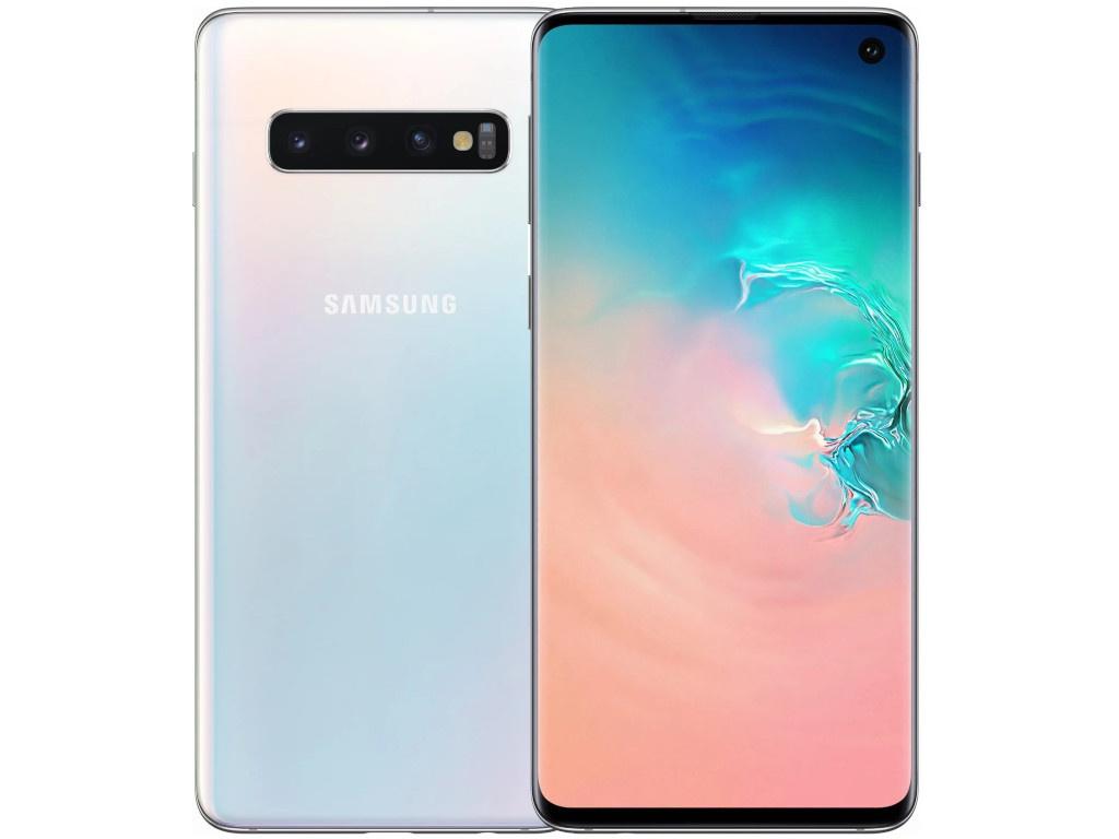 Сотовый телефон Samsung SM-G973F Galaxy S10 Nacre