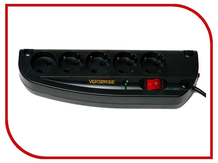 Сетевой фильтр Vektor Se 5 Sockets 2m Black 7752