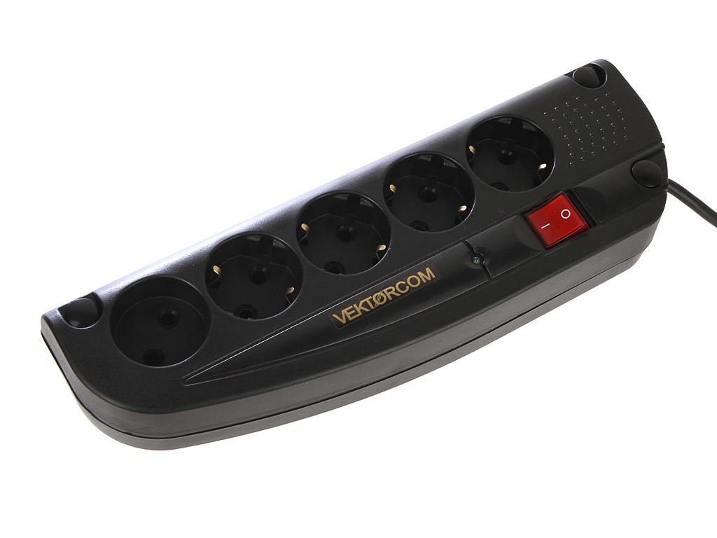 цена на Сетевой фильтр Vektor Com 5 Sockets Black 10m 15780