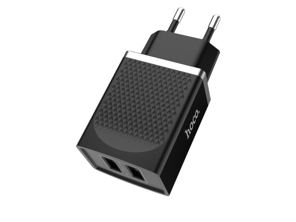 Зарядное устройство Hoco C43A Vast 2xUSB 2.4A Black зарядное