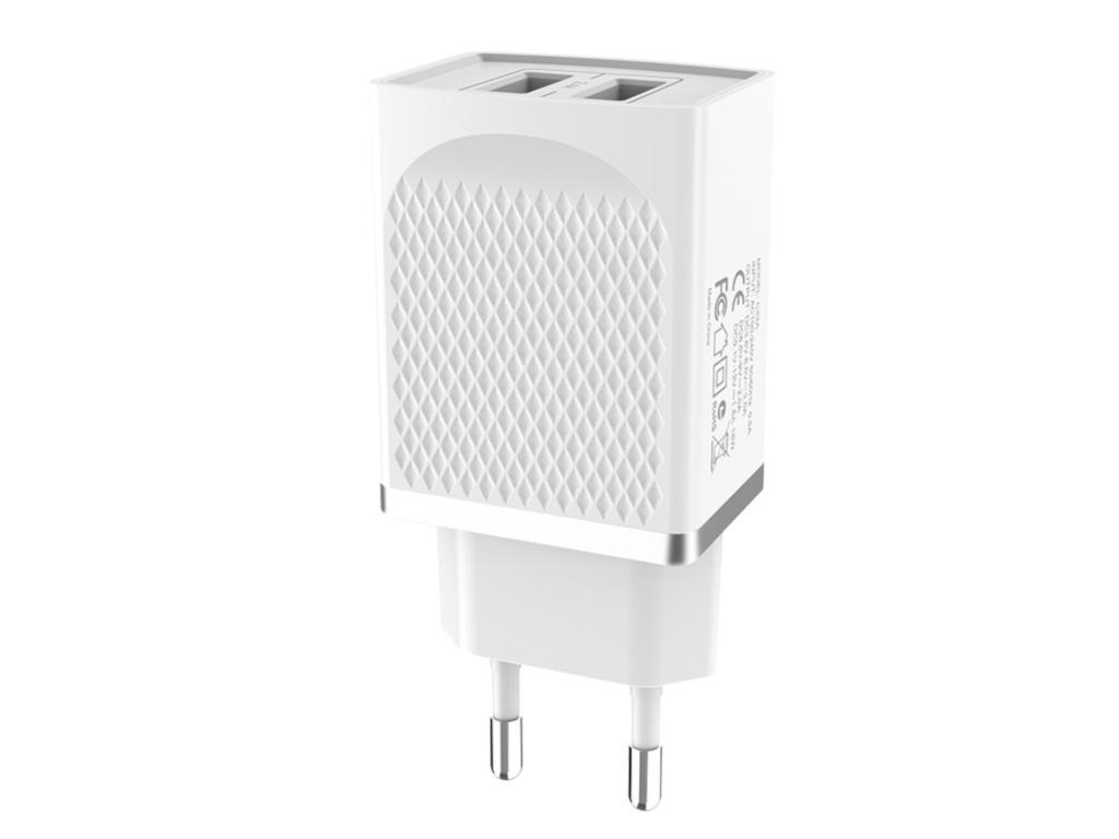 Зарядное устройство Hoco C43A Vast 2xUSB 2.4A White