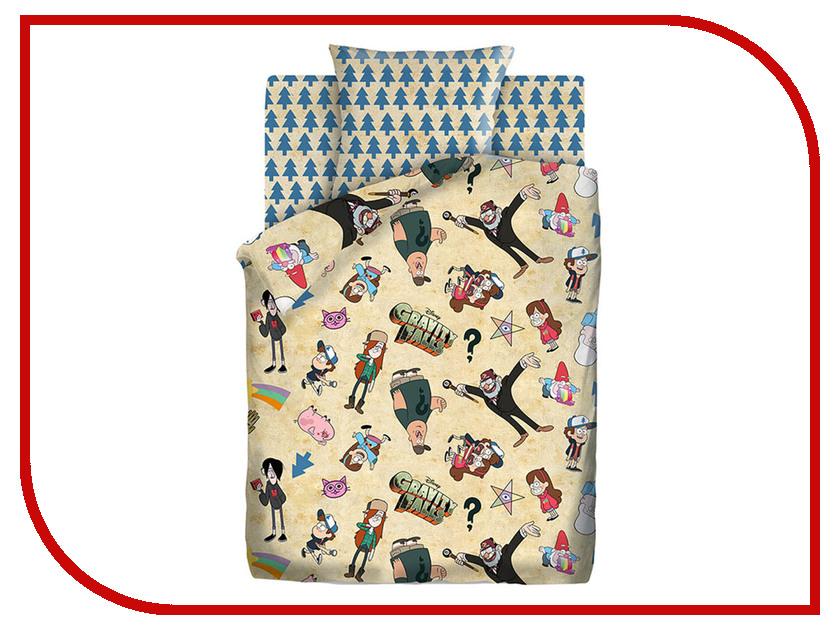 Постельное белье ПромТоргСервис Гравити Фолз 8904/8905-1 Комплект 1.5 спальный поплин 431557