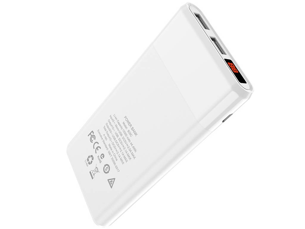 Внешний аккумулятор Hoco Power Bank B35C Entourage 12000mAh White