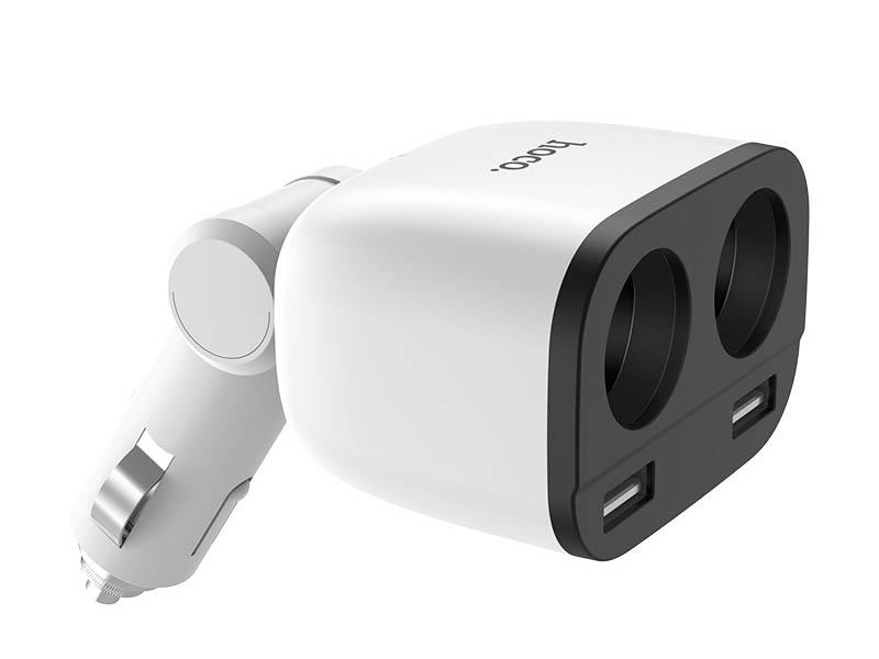 Зарядное устройство Hoco Z28 Power 2xUSB 3.1A with Digital Display White