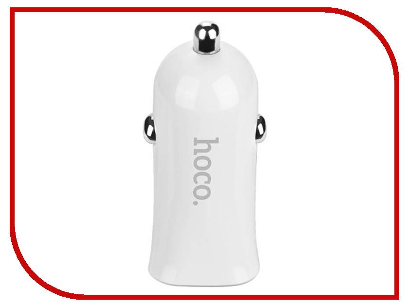 Зарядное устройство Hoco Z12 2xUSB 2.4A + MicroUSB White hoco e7