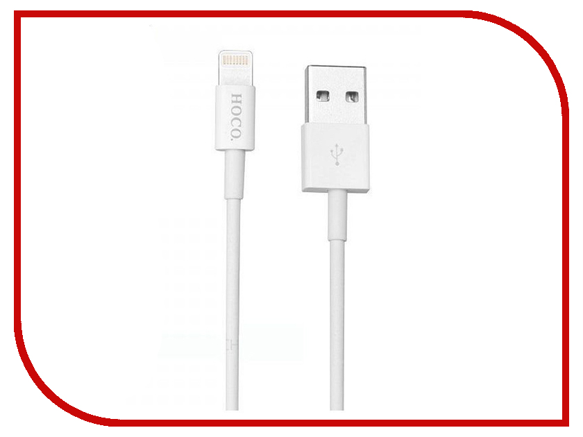 Аксессуар Hoco UPL02i USB - Lightning White